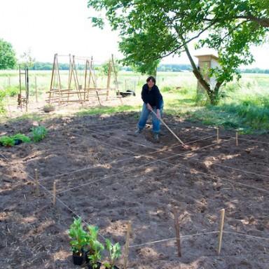 Markierungen und Vorbereitung des Bodens