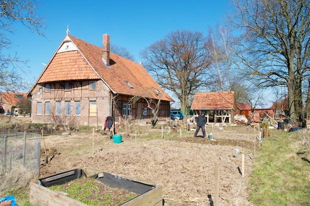 Vegetable garden with 7 plots