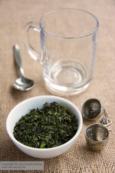 Homemade peppermint tea