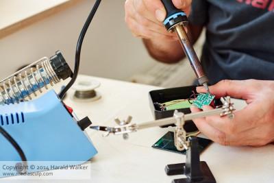 Reparatur eines Solar-Wühlmausvertreibers